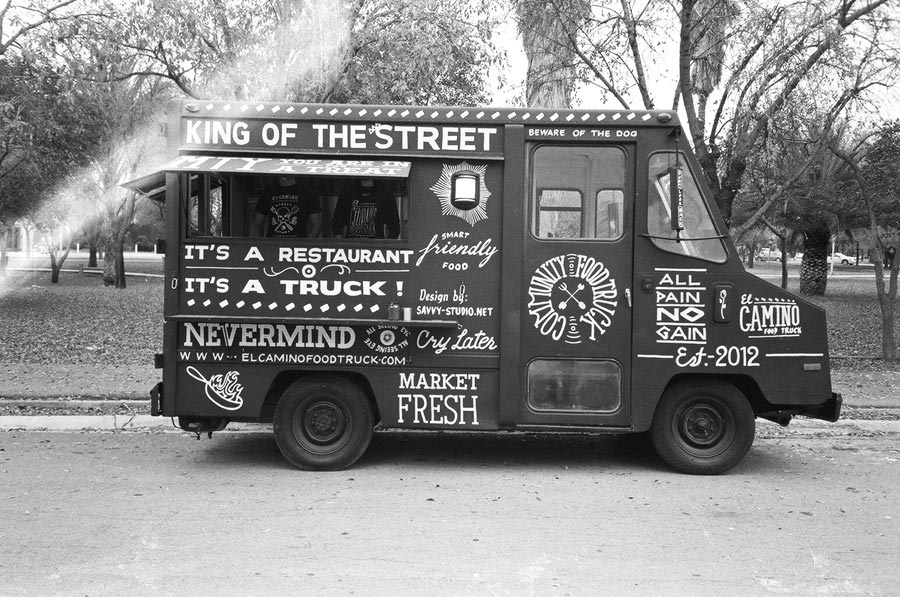 El camino foodtruck identity designed for Cool food truck designs