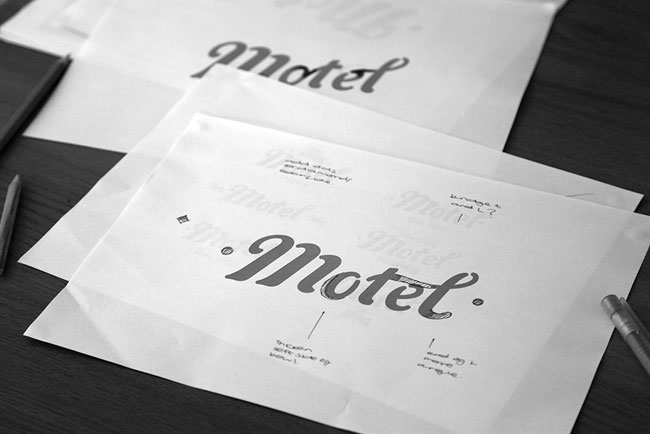 Motel logo sketch