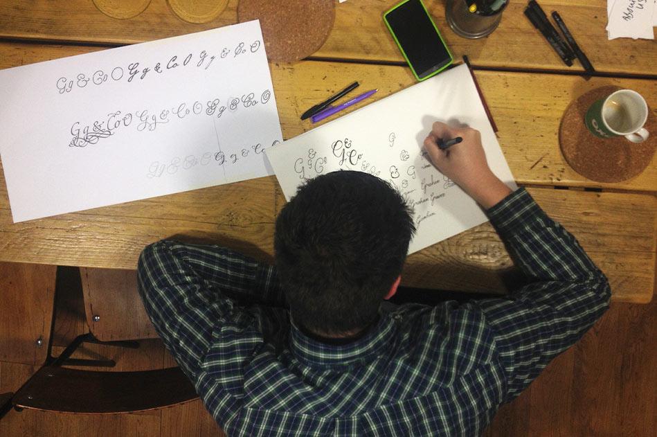 Grimm & Co monogram sketches
