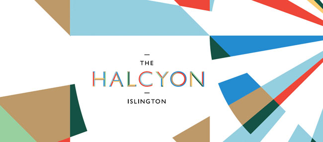 The Halcyon Islington brand identity