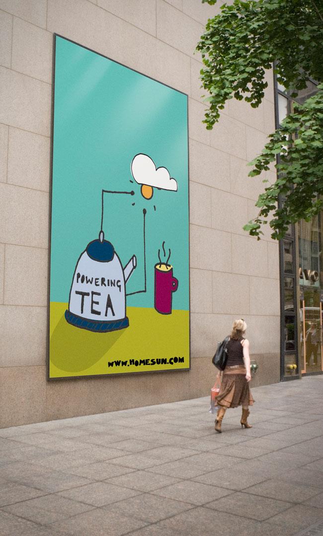 HomeSun tea poster