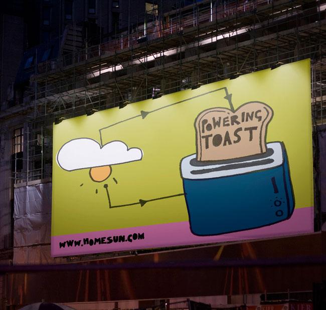 HomeSun toast poster