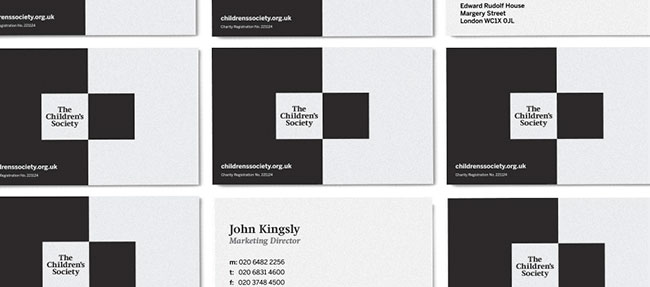 The Children's Society identity design