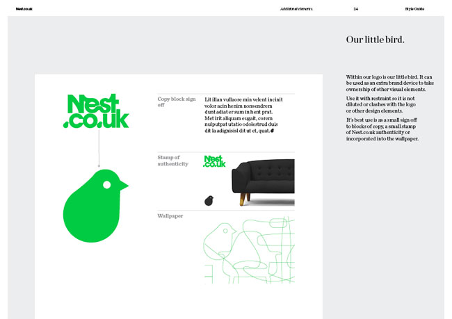 Nest brand identity design