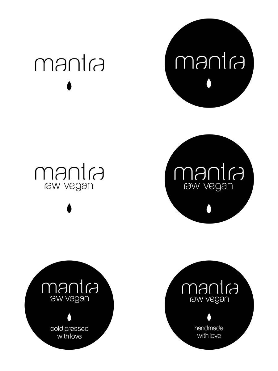 Mantra restaurant identity design