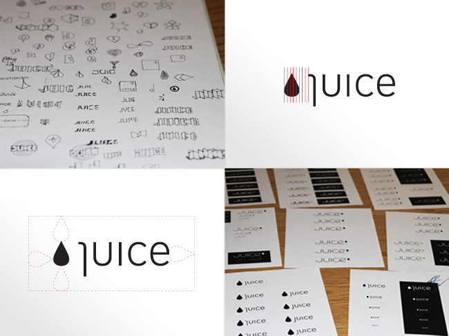 The Juice Agency brand identity