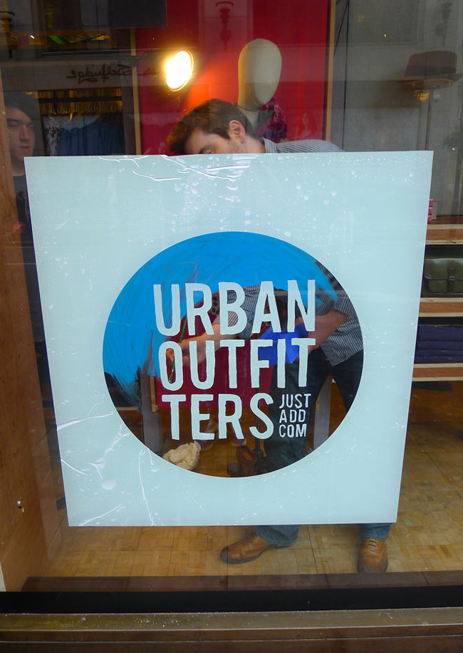 Urban Outfitters window