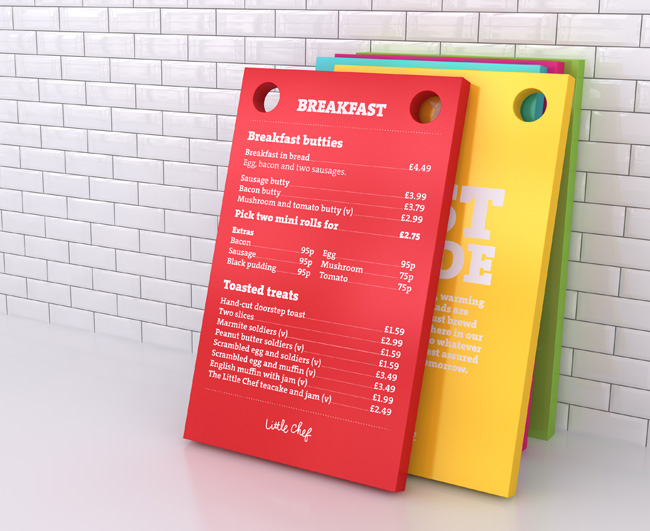 Little Chef breakfast menu
