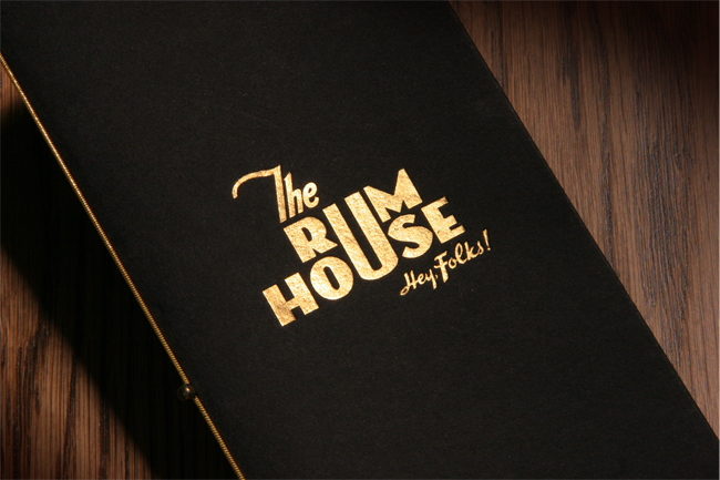 The Rum House menu