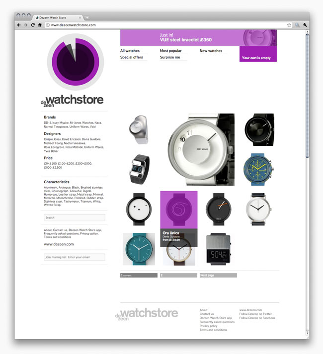 Dezeen Watch Store