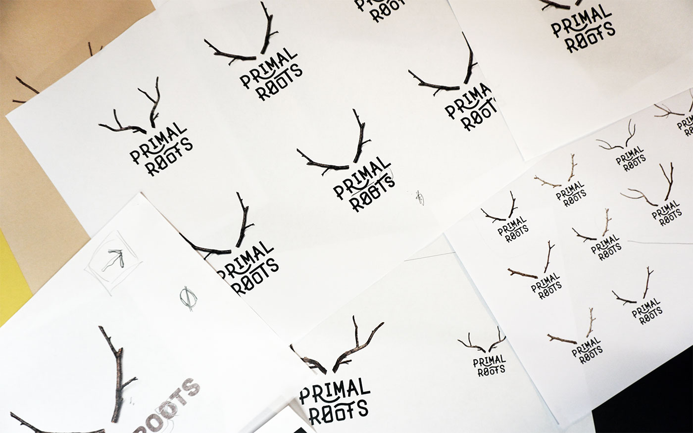 Primal Roots logo exploration