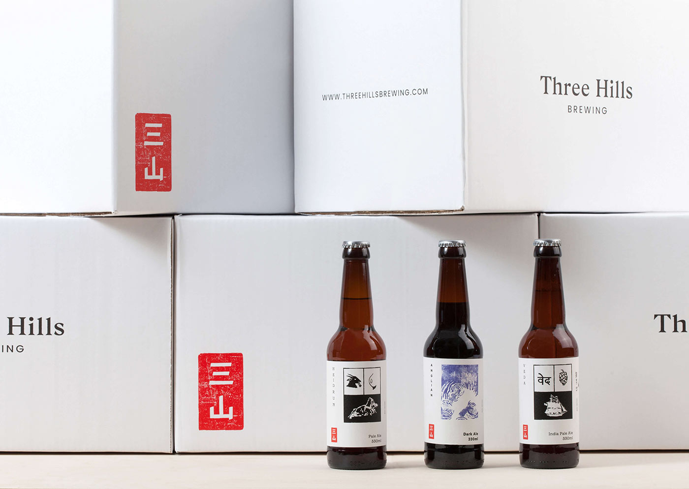 Three Hills Brewing identity