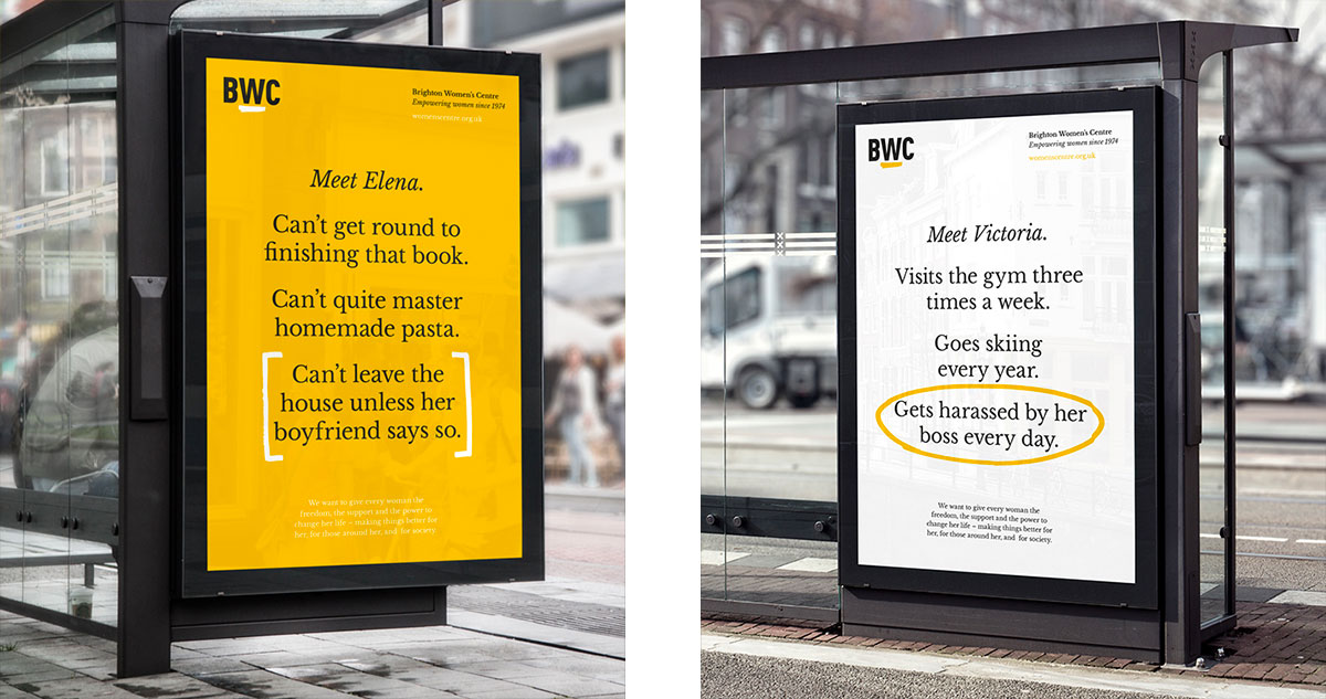 BWC bus stop ads
