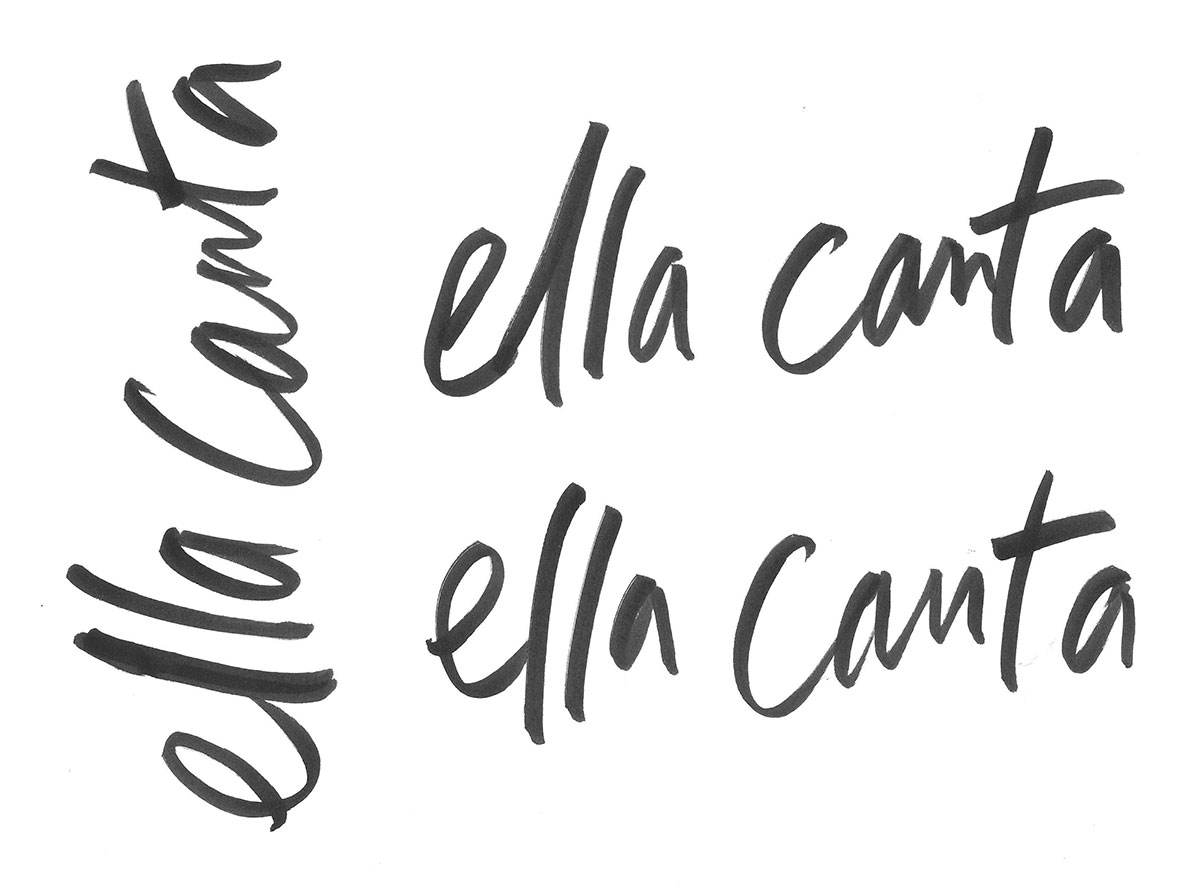 Ella Canta handwriting