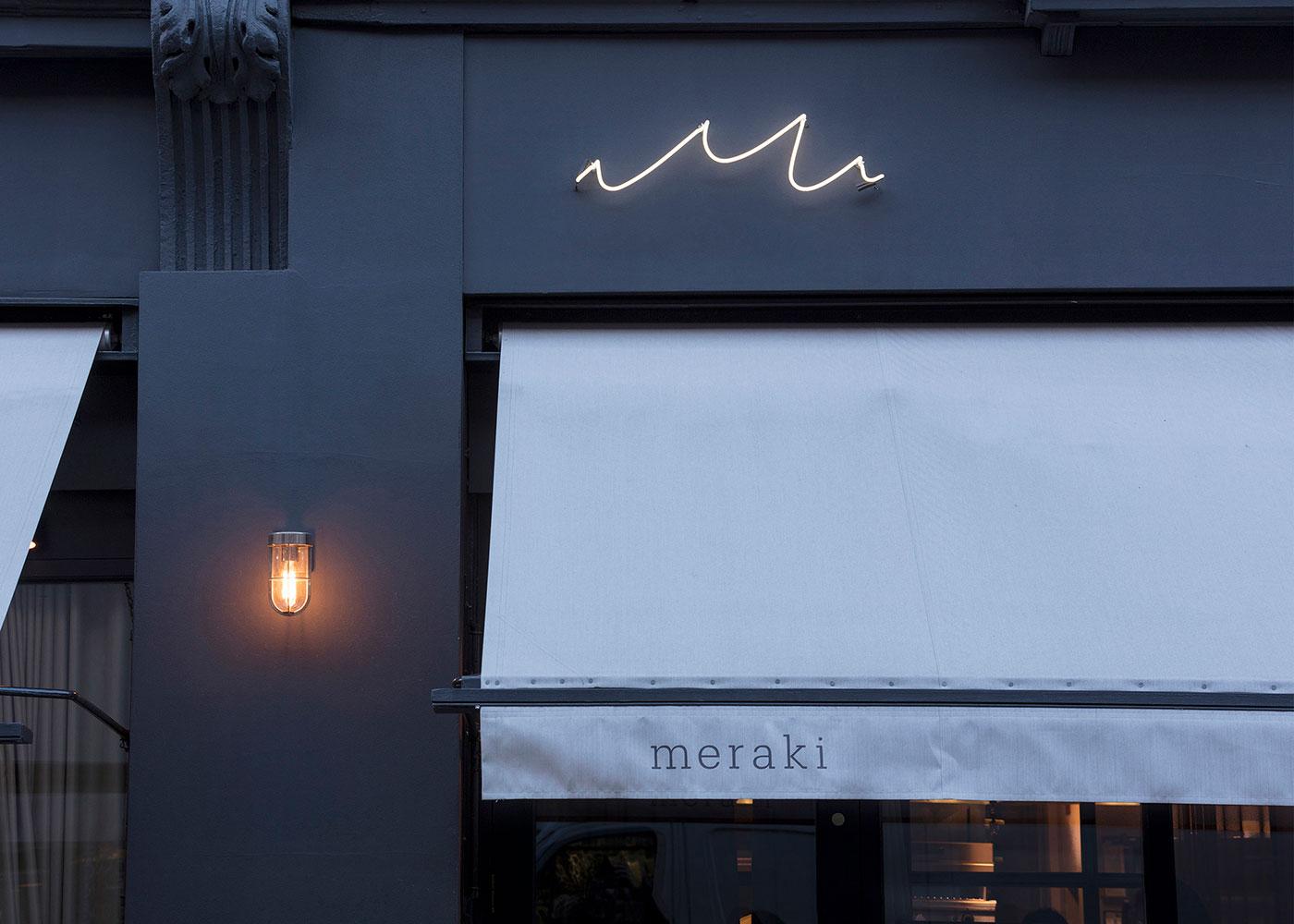 Meraki Restaurant signage