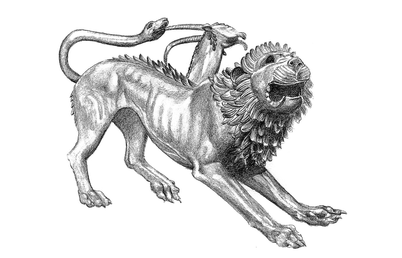 La Bottega illustration chimera