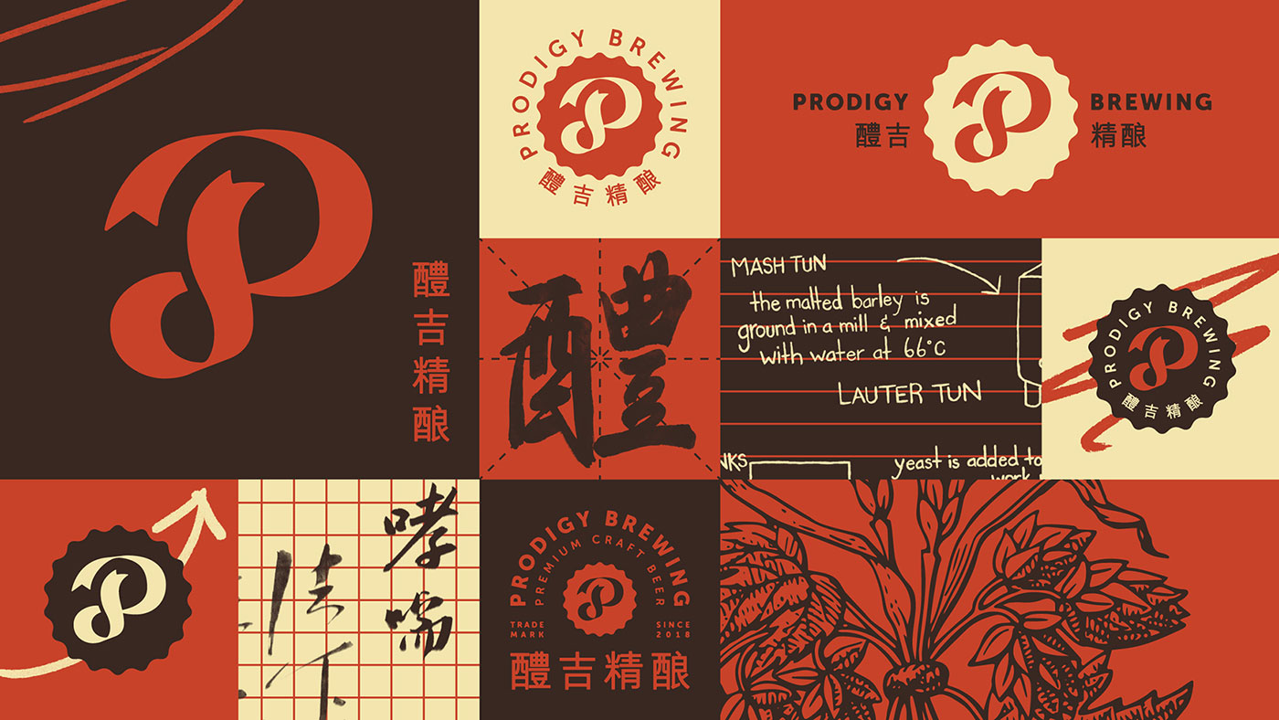 Prodigy Brewing brand collage
