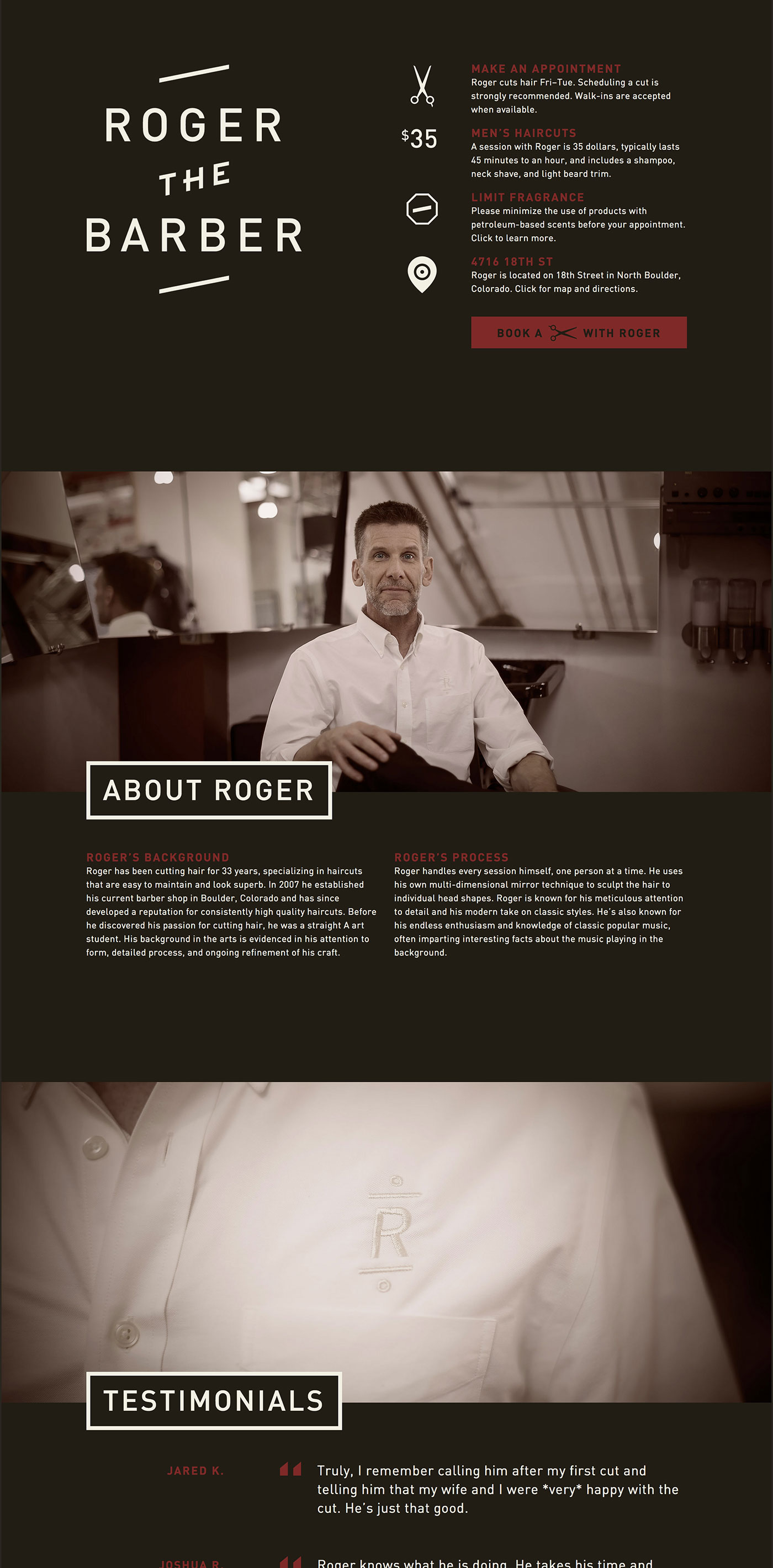 Roger the Barber identity