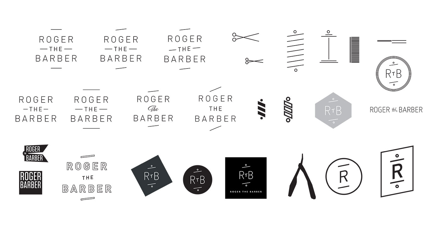 Roger the Barber logo ideas