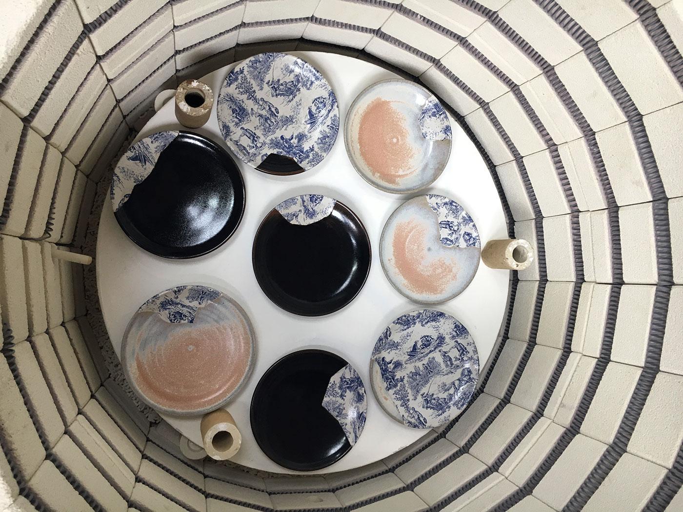 Issho kintsugi plates