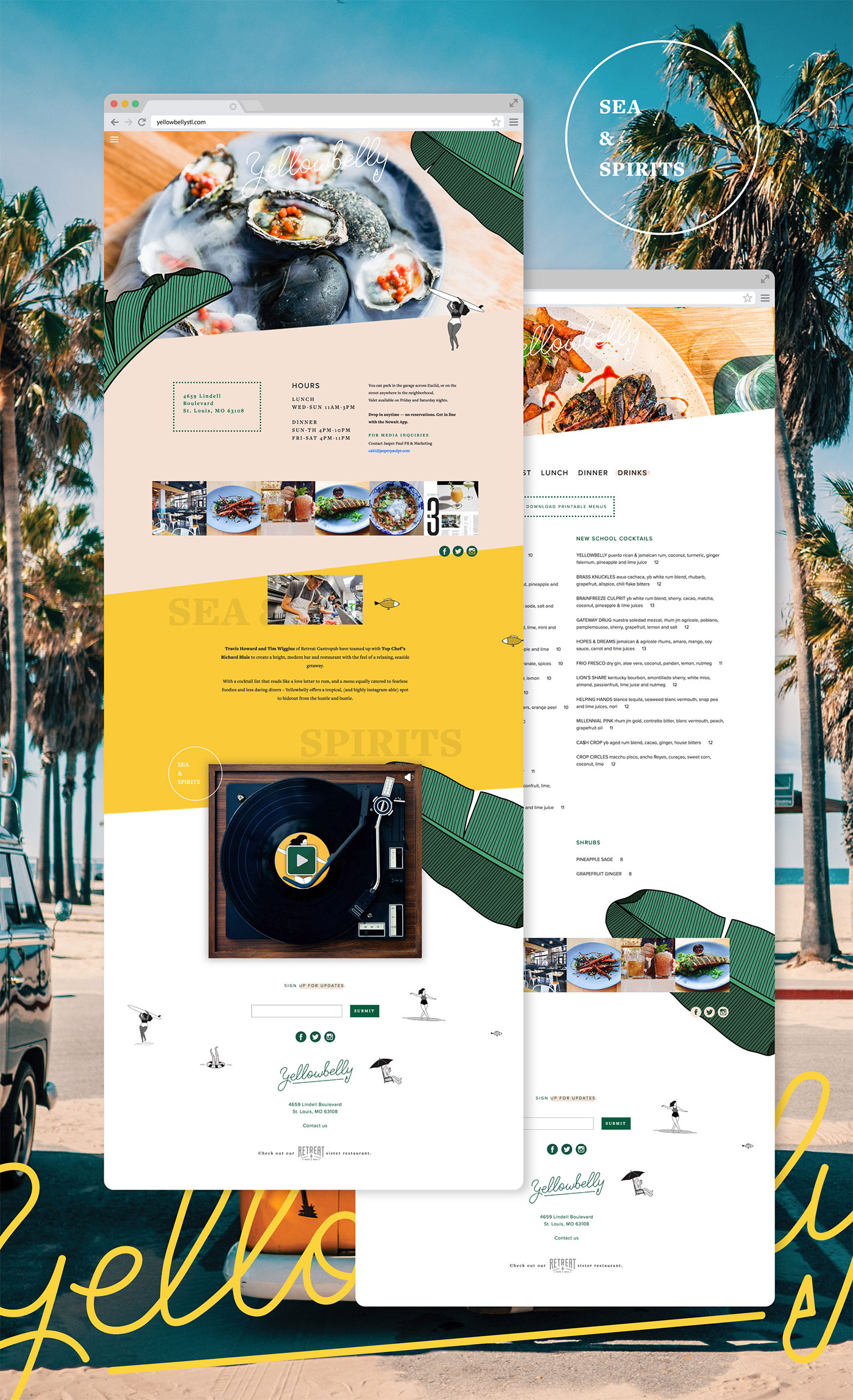 Yellowbelly restaurant identity