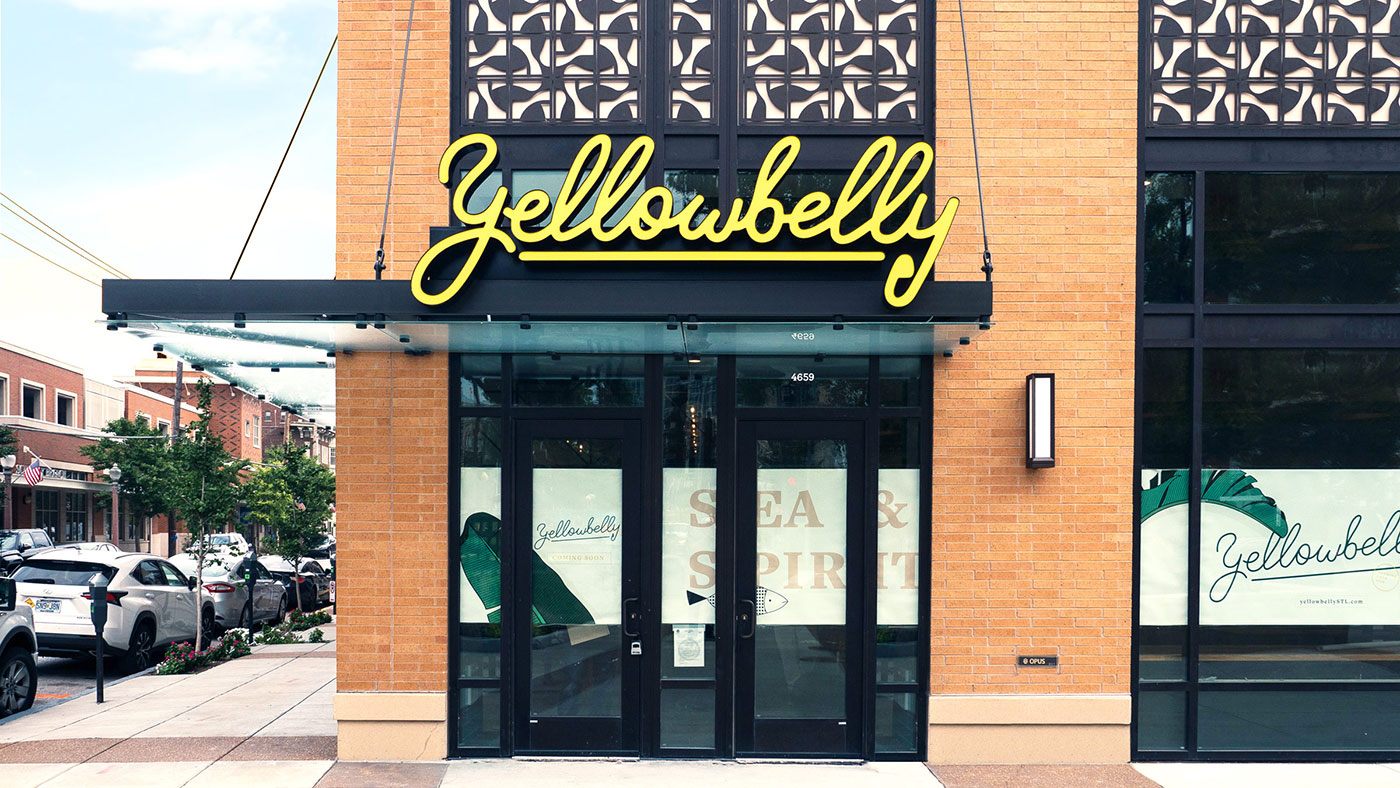 Yellowbelly restaurant signage