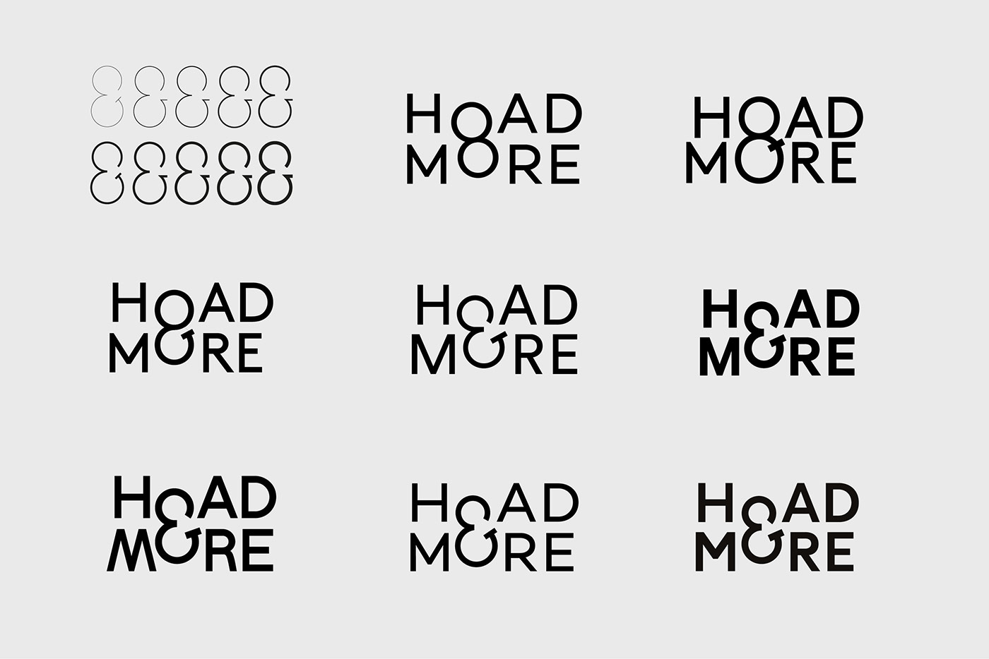 Hoad & More logo experiments