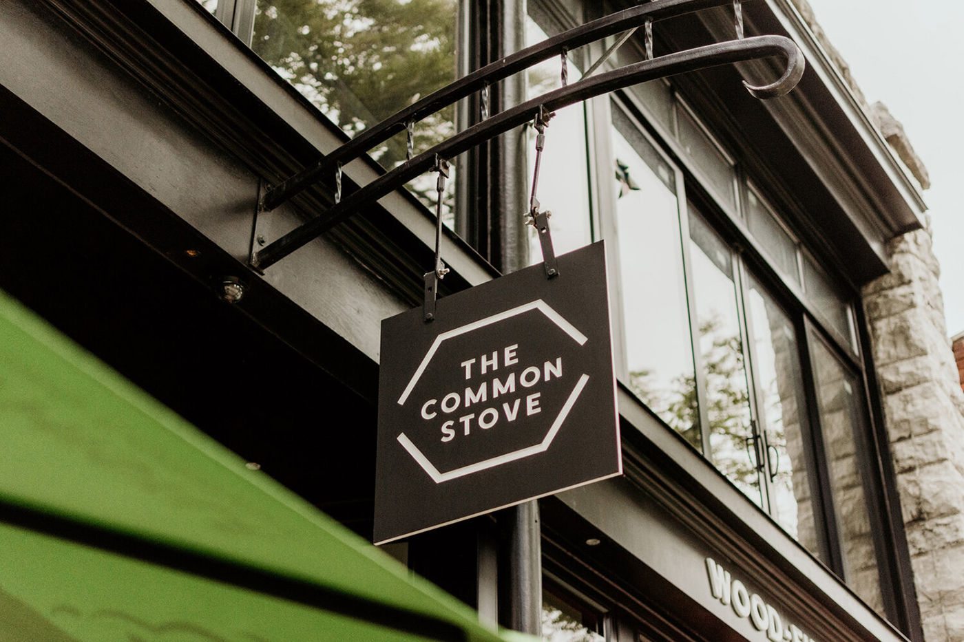 The Common Stove signage
